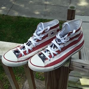Unisex Converse American Flag High Tops 9.5/11.5